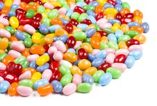 Free Jelly Beans Candy On White Background Royalty Free Stock Photos - 5981418