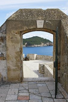 Old Walls 0f Dubrovnik Royalty Free Stock Image