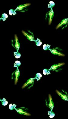 Free Green Bones Pattern Background 2 Stock Image - 5982111