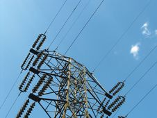 Power Transmission Line Stock Images