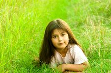 Free Girl On Grass Stock Images - 5982454