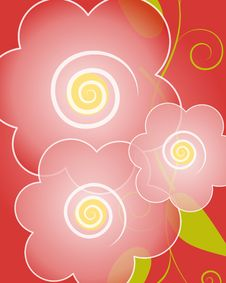Free Red Flowers Background Royalty Free Stock Images - 5982509
