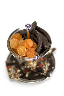 Free Dried Fruit And Chocolate Stock Photography - 5982622