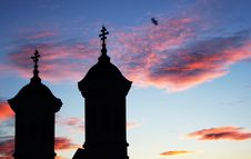 Free Church Silhouette At Sunset Royalty Free Stock Image - 5984036