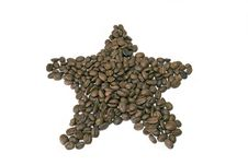 Coffee Beans Star Royalty Free Stock Photography