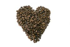 Free Coffee Beans Heart Stock Photo - 5984520