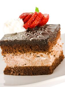 Free Piece Of Chocolate Cake Stock Photography - 5984582