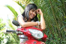 Free Asian Girl On Motorcycle Stock Photos - 5984773