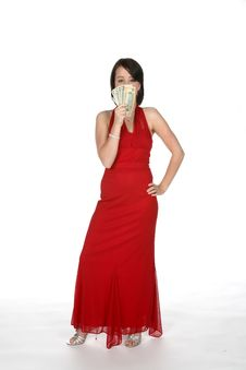 Pretty Teen With Money Royalty Free Stock Photography