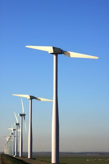 Free Two Bladed Windmill Farm Stock Image - 5984871