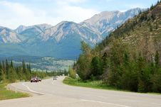Road In Jasper National Park Royalty Free Stock Photography