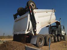 Free Dump Truck Dumping Dirt - Horizontal Stock Image - 5985051