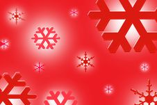 Free Red Snowflake Illustration Background Royalty Free Stock Photo - 5985145