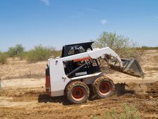 Free Skid Steer Loader - Horizontal Stock Photography - 5985372