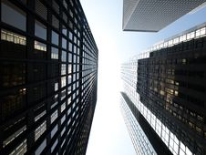 Free Looking Up At Tall Skyscrapers Stock Photos - 5985583