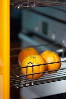Free Orange In Kitchen In Fridge Stock Photo - 5985620