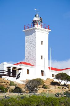 Free Newly Renovated Lighthouse Stock Photography - 5985672