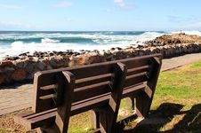 Free Wooden Bench By The Sea Stock Photo - 5985700