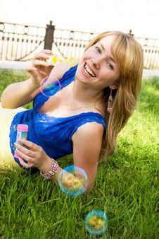 Playful Girl Outdoor Royalty Free Stock Photos