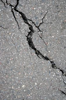 Free Fissure In Asphalt Stock Image - 5986121