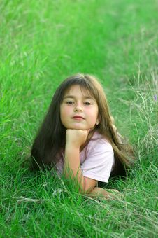Free Girl On Grass Royalty Free Stock Image - 5986426