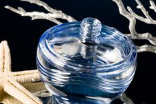 Free Blue Bottle Of Perfume Stock Photos - 5987443