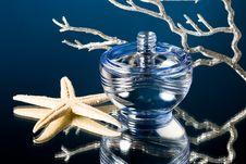 Free Blue Bottle Of Perfume Stock Photos - 5987463