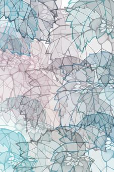 Free Pattern With Leaves Royalty Free Stock Photography - 5987537