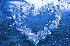 Heart From Ice Stock Photos