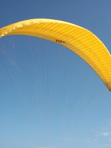 Yellow Paraglide Stock Image