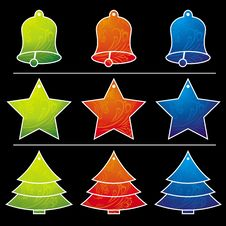 Free Nine  Christmas Toy, Vector Stock Photography - 5989162