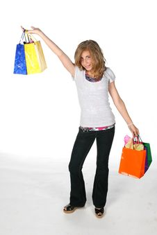 Free Shopping Girl Royalty Free Stock Photo - 5989715
