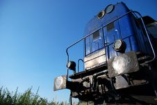 Free Blue Locomotive Royalty Free Stock Images - 5989759