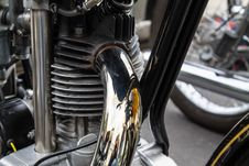 Motorcycle Exhaust Pipe Close Up Retro Technology Stock Photography