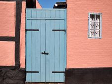 Bright Colors Traditional Painted Wooden Door Royalty Free Stock Photography