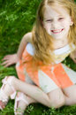 Free Smiling Cute Little Girl, Selective Focus Stock Photography - 5990102