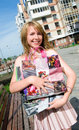 Free Young Girl With Shopping Bags Stock Images - 5995914