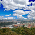 Free The Aerial View Of Prague Stock Image - 5996141