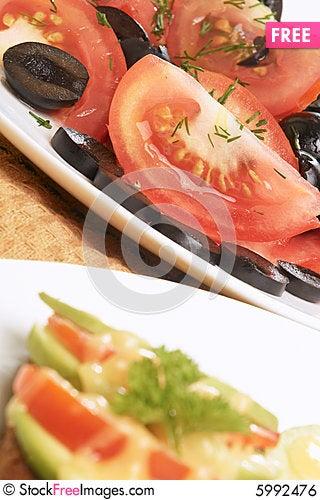 Free Vegetarian Dinner Royalty Free Stock Image - 5992476