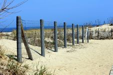 Free Fence On Beach Royalty Free Stock Image - 5990526