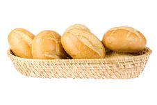 Free Basket Of Bread Rolls Royalty Free Stock Photography - 5990747