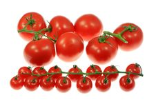 Free Tomatoes On White. Royalty Free Stock Images - 5990879