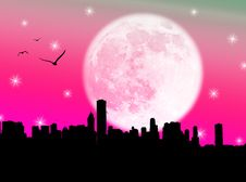 Free City In The Moon Royalty Free Stock Photos - 5991138
