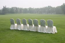 Free White Chairs Royalty Free Stock Photography - 5991277