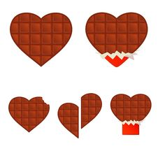 Free Chocolate Hearts Royalty Free Stock Photography - 5991417