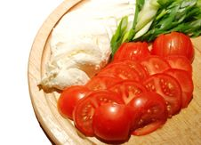 Free Mozzarella And Tomatoes Royalty Free Stock Photography - 5991617