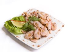 Free Boiled Shrimps Royalty Free Stock Images - 5991889