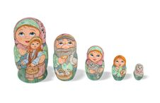 Free Nesting Dolls Royalty Free Stock Photos - 5992378