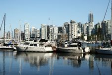 Free Boats And Downtown Vancouver Stock Photos - 5992443