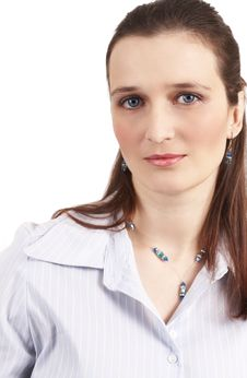 Free Beautiful Brunette Businesswoman Royalty Free Stock Photos - 5992978